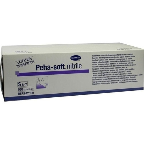 Peha-soft nitrile Untersuch.handsch. S unst.pudfr., 100 ST, Paul Hartmann AG