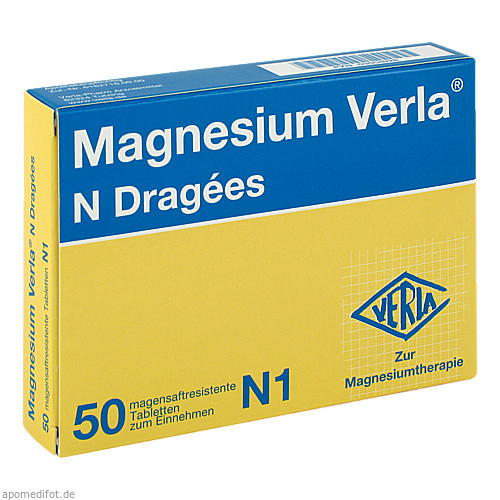 MAGNESIUM VERLA N Dragees, 50 ST, Verla-Pharm Arzneimittel GmbH & Co. KG