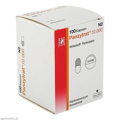PANZYTRAT 10000, 100 ST, ALLERGAN PHARMACEUTICALS INTERNATIONAL LIMITED