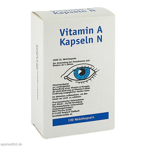 VITAMIN A KAPSELN, 100 ST, Allpharm Vertriebs GmbH