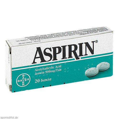 ASPIRIN 500 mg Tabletten, 20 ST, Abis-Pharma