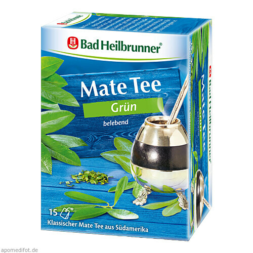 Bad Heilbrunner Mate Tee grün, 15X1.8 G, Bad Heilbrunner Naturheilm. GmbH & Co. KG