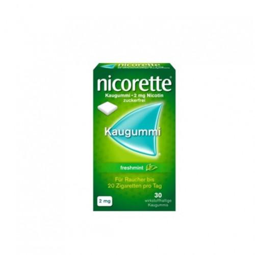 Nicorette Freshmint Kaugummi 2mg, 30 ST, Johnson & Johnson GmbH