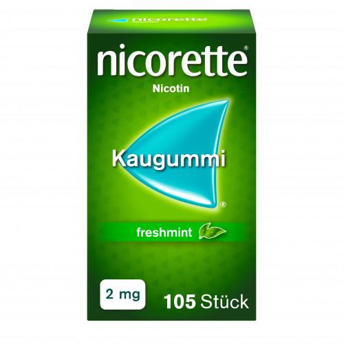 Nicorette Freshmint Kaugummi 2mg, 105 ST, Johnson & Johnson GmbH