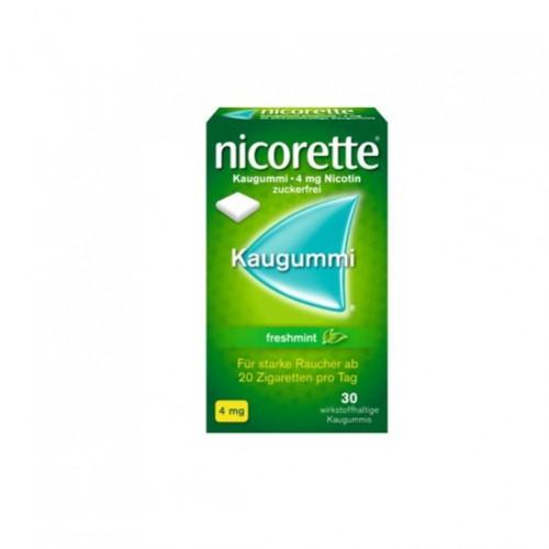 Nicorette Freshmint Kaugummi 4mg, 30 ST, Johnson & Johnson GmbH (Otc)