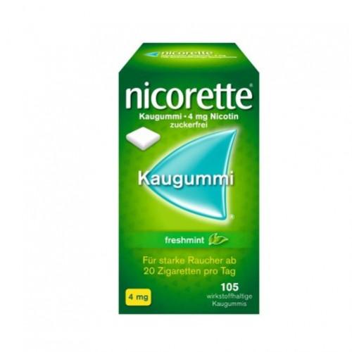 Nicorette Freshmint Kaugummi 4mg, 105 ST, Johnson & Johnson GmbH (Otc)