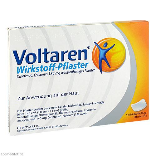 Voltaren Wirkstoff-Pflaster, 5 ST, GlaxoSmithKline Consumer Healthcare GmbH & Co. KG