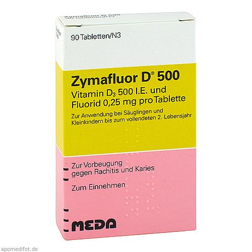 ZYMAFLUOR D 500, 90 ST, MEDA Pharma GmbH & Co.KG