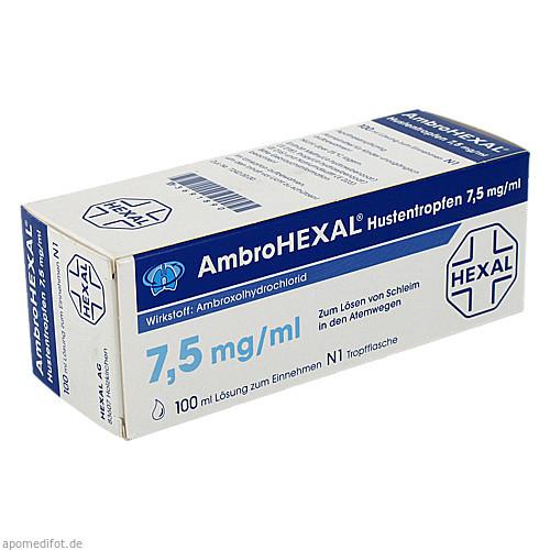 AmbroHEXAL Hustentropfen 7.5mg/ml, 100 ML, HEXAL AG