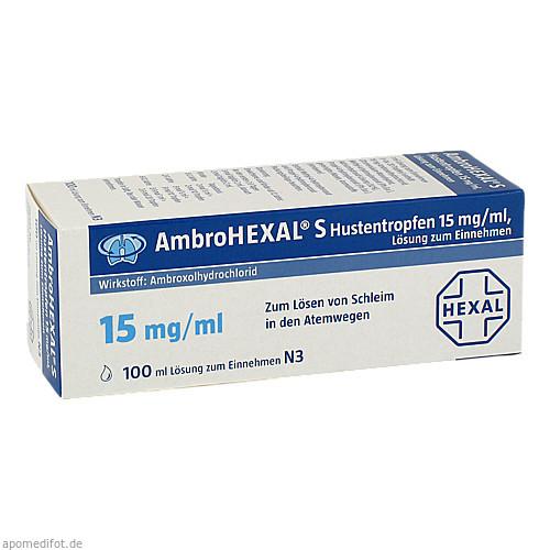 AmbroHEXAL S Hustentropfen 15mg/ml, 100 ML, HEXAL AG