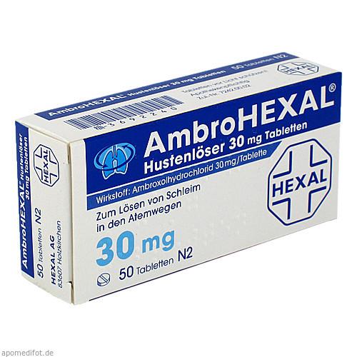 AmbroHEXAL Hustenlöser 30mg Tabletten, 50 ST, HEXAL AG