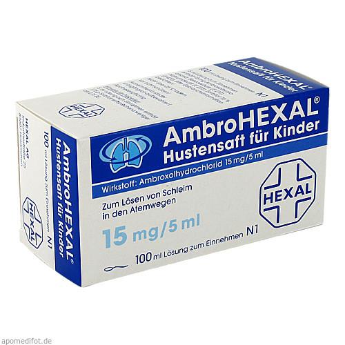 AmbroHEXAL Hustensaft für Kinder, 100 ML, HEXAL AG