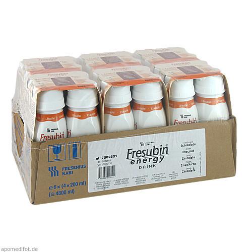 Fresubin energy DRINK Schokolade Trinkflasche, 6X4X200 ML, Fresenius Kabi Deutschland GmbH