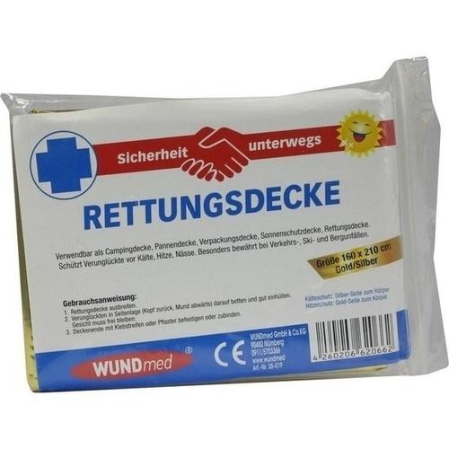 Rettungsdecke 160x210cm Gold/Silber, 1 ST, Axisis GmbH
