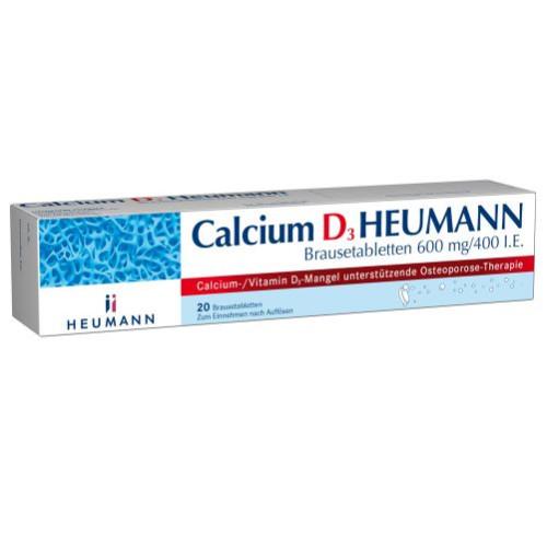 Calcium D3 Heumann Brausetabletten, 20 ST, Heumann Pharma GmbH & Co. Generica KG