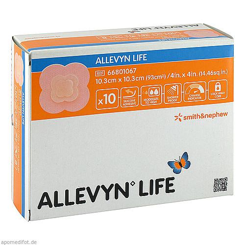 ALLEVYN LIFE 10.3x10.3cm, 10 ST, Aca Müller/Adag Pharma AG