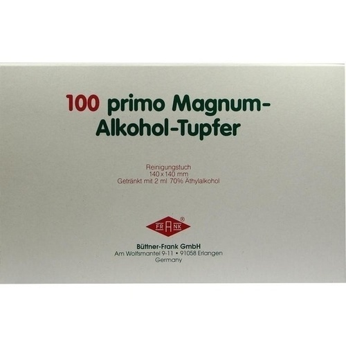 ALKOHOLTUPF PRIMO MAGNUM, 100 ST, Büttner-Frank GmbH