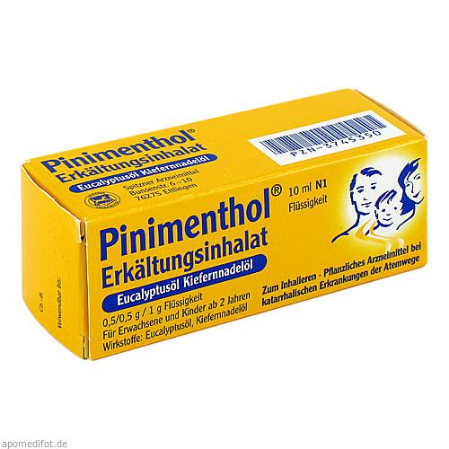 PINIMENTHOL Erk.Inhalat Eucalyptus Kiefernnadel, 10 ML, Dr.Willmar Schwabe GmbH & Co. KG