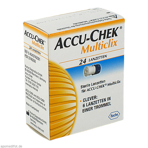 ACCU CHEK Multiclix Lanzetten, 24 ST, Roche Diabetes Care Deutschland GmbH