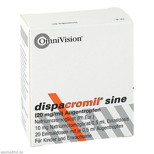 DISPACROMIL SINE EDP, 20X0.5 ML, Omnivision GmbH