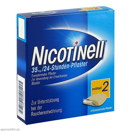 NICOTINELL 35MG 24 Stunden Pflaster TTS20, 14 ST, GlaxoSmithKline Consumer Healthcare