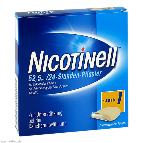NICOTINELL 52.5MG 24 Stunden Pflaster TTS30, 7 ST, GlaxoSmithKline Consumer Healthcare