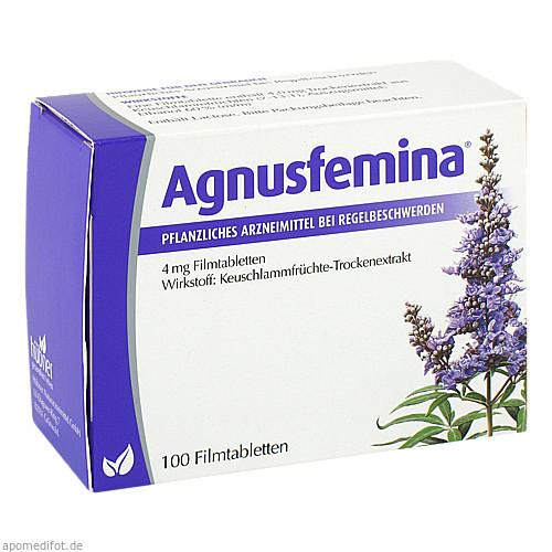 Agnusfemina 4mg Filmtabletten, 100 ST, Hübner Naturarzneimittel GmbH