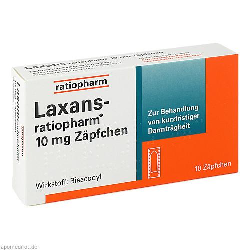 Laxans-ratiopharm 10mg Zäpfchen, 10 ST, ratiopharm GmbH