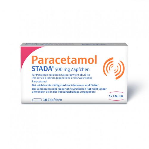 Paracetamol STADA 500mg Zäpfchen, 10 ST, STADA GmbH
