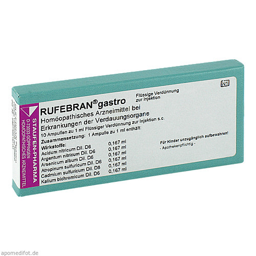 Rufebran gastro, 10 ST, Combustin Pharmaz. Präparate GmbH