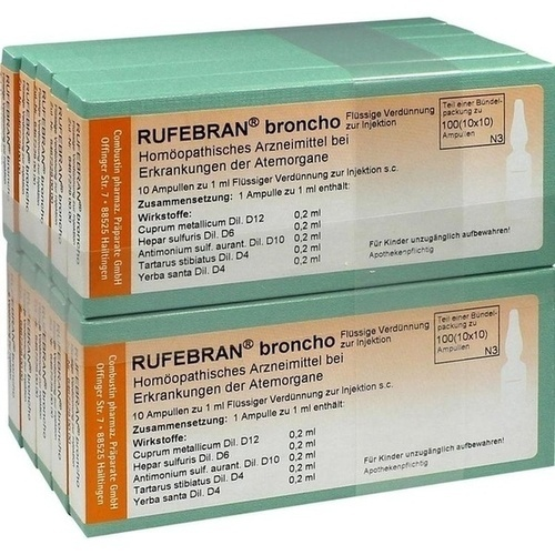 Rufebran broncho, 100 ST, Combustin Pharmaz. Präparate GmbH