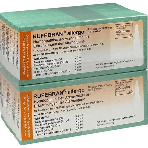 Rufebran allergo, 100 ST, Combustin Pharmaz. Präparate GmbH