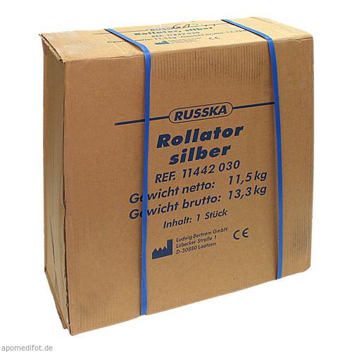Rollator Silber mit Korb + Tablett, 1 ST, RUSSKA LUDWIG BERTRAM GMBH
