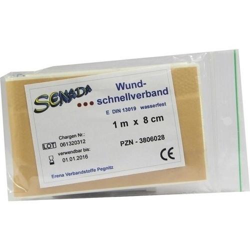 Senada Wundschnellverband 100x8 wasserfest, 1 ST, Erena Verbandstoffe GmbH & Co. KG