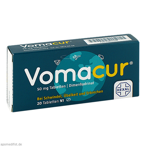VOMACUR Tabletten, 20 ST, HEXAL AG