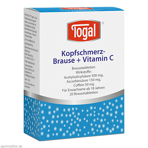 TOGAL KOPFSCHM BRAUSE+VIT, 20 ST, Kyberg experts GmbH