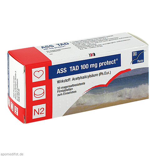 ASS TAD 100mg protect, 50 ST, TAD Pharma GmbH