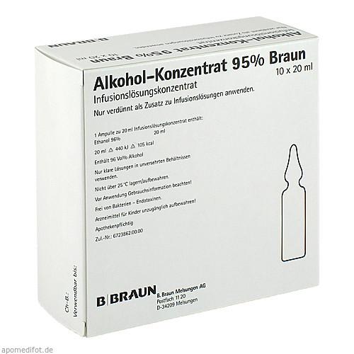 ALKOHOL 95%, 10X20 ML, B. Braun Melsungen AG