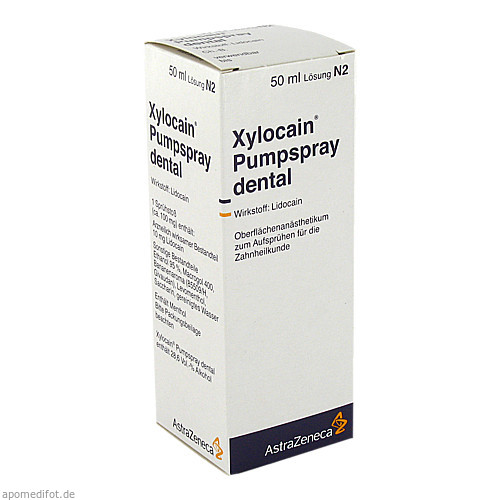 XYLOCAIN PUMPSPRAY DENTAL, 50 ML, Aspen Germany GmbH