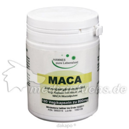 Maca Vegi Kapseln 500, 180 ST, G & M Naturwaren Import GmbH & Co. KG