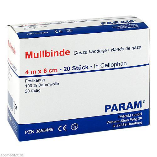 MULLBINDE 6CM M CELL, 20 ST, Param GmbH