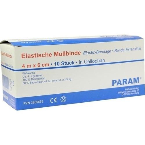 MULLBINDE ELAS 6CM M CELL, 10 ST, Param GmbH