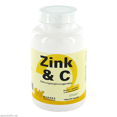 Zink & C, 250 ST, Warnke Vitalstoffe GmbH
