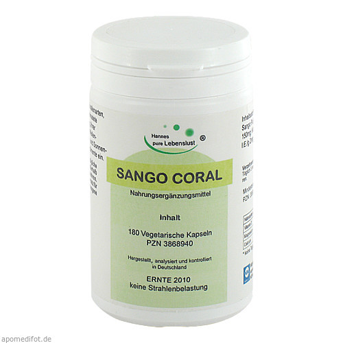 Sango Coral Vegi Kapseln, 180 ST, G & M Naturwaren Import GmbH & Co. KG