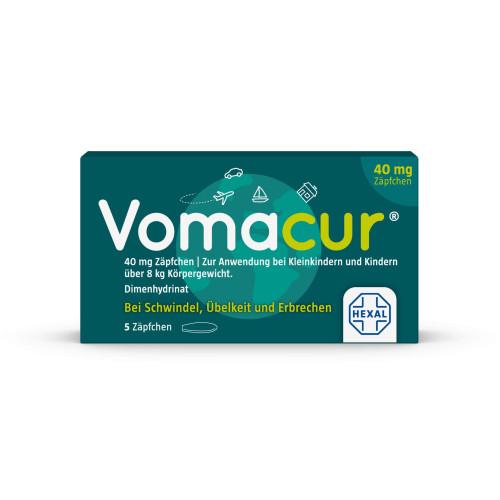 VOMACUR 40 Suppositorien, 5 ST, Hexal AG