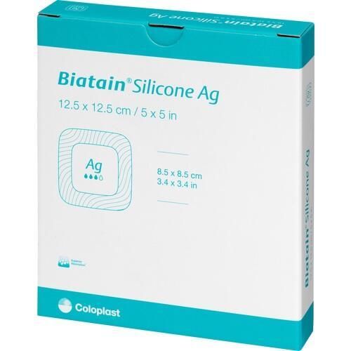 Biatain Silicone Ag Schaumverband 12.5x12.5cm, 5 ST, Coloplast GmbH
