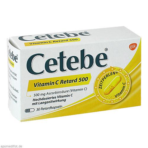 Cetebe Vitamin C Retard 500, 30 ST, GlaxoSmithKline Consumer Healthcare