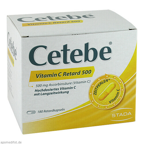 Cetebe Vitamin C Retard 500, 180 ST, GlaxoSmithKline Consumer Healthcare