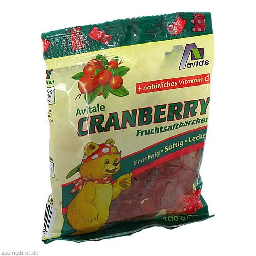 Cranberry Fruchtsaftbärchen, 100 G, Avitale GmbH
