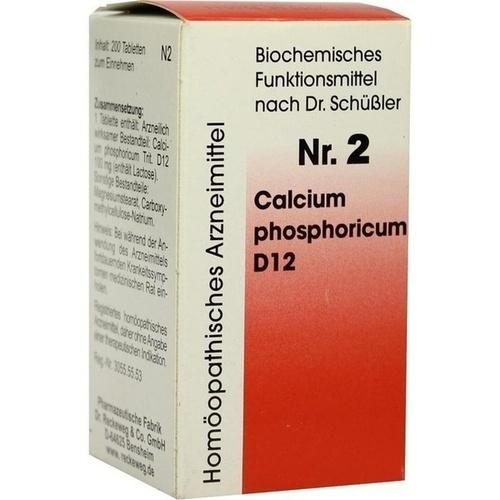 Biochemie 2 Calcium phosphoricum D12, 200 ST, Dr.Reckeweg & Co. GmbH